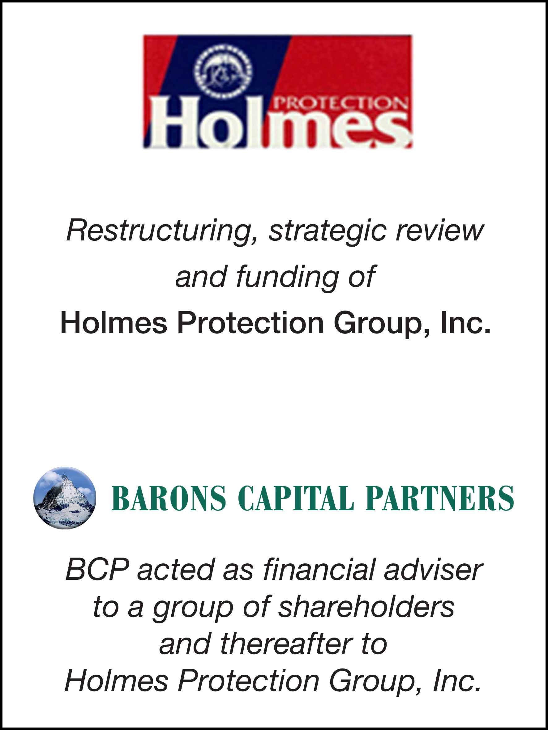 27_Holmes Protection Group Inc