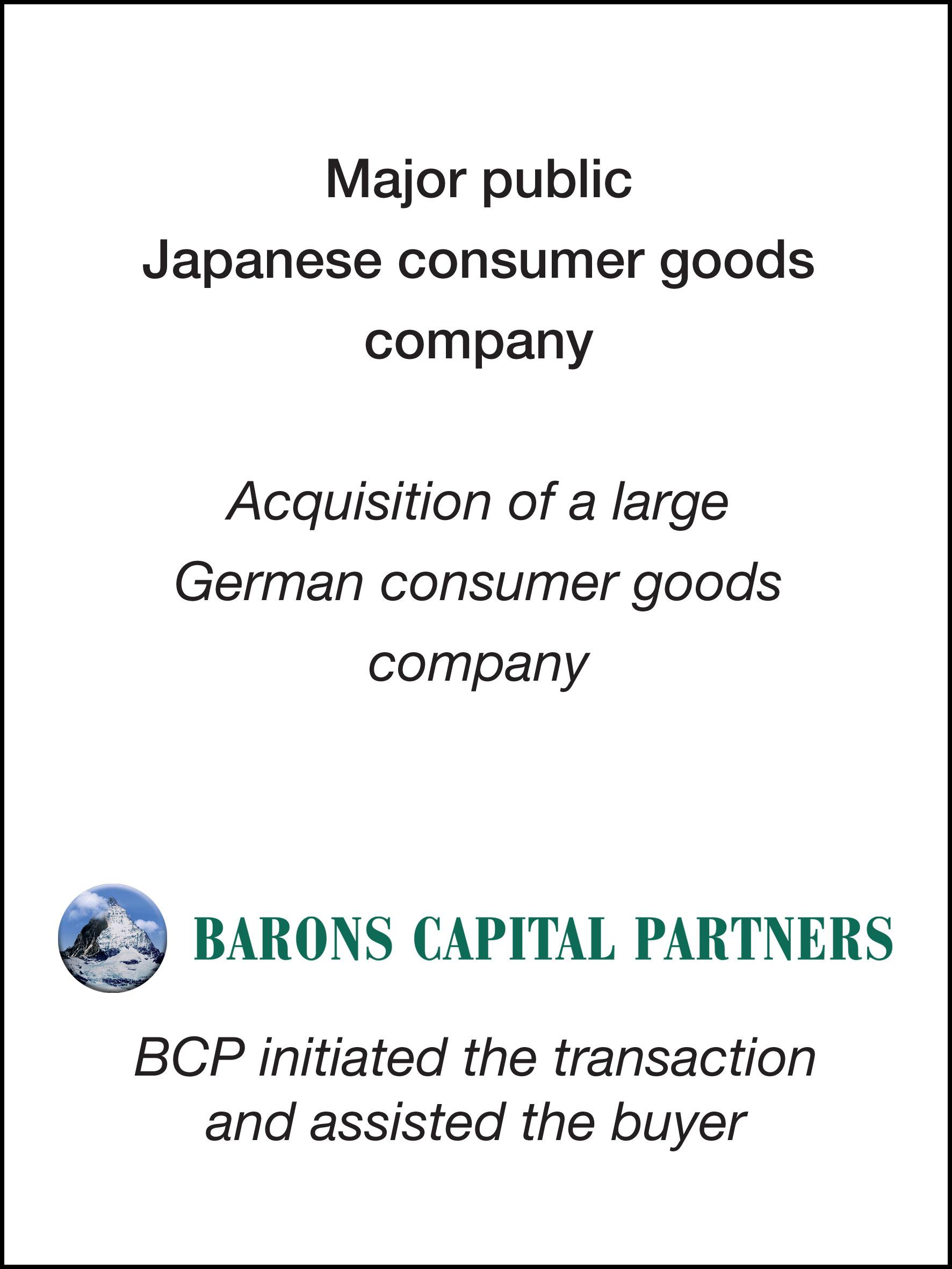 54_Major public Japanese consumer goods company